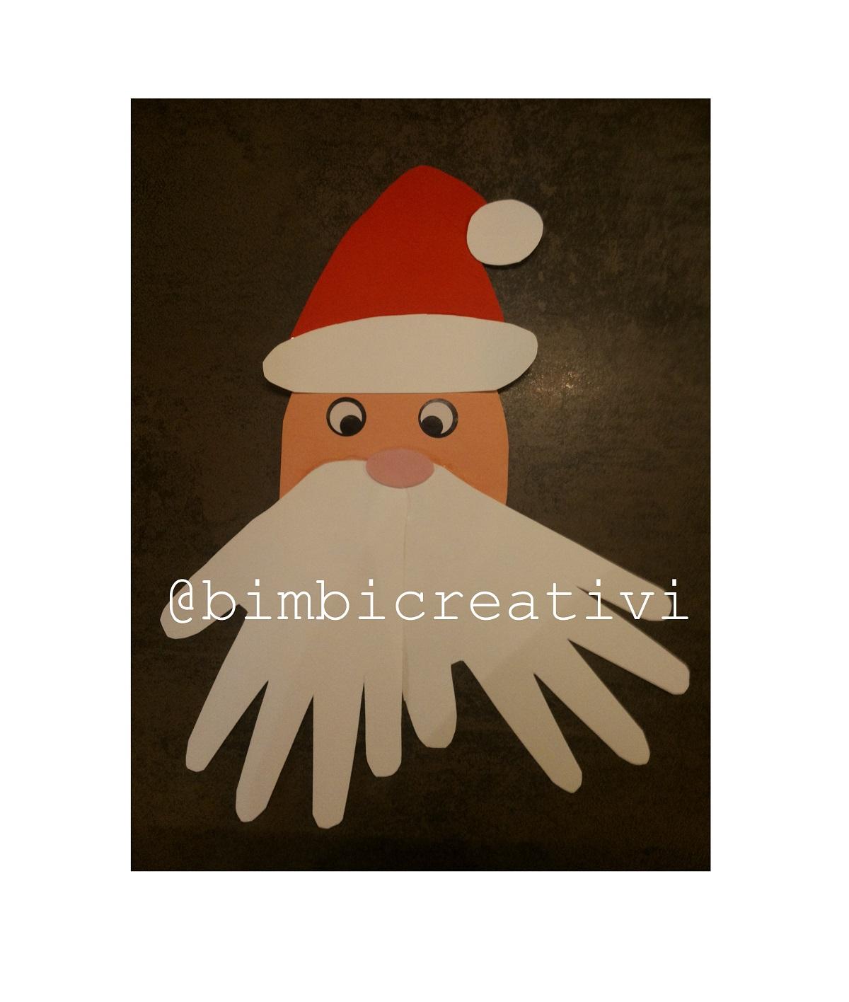 Lavoretti Di Natale Con Babbo Natale.Lavoretti Con Le Manine Babbo Natale Bimbi Creativi