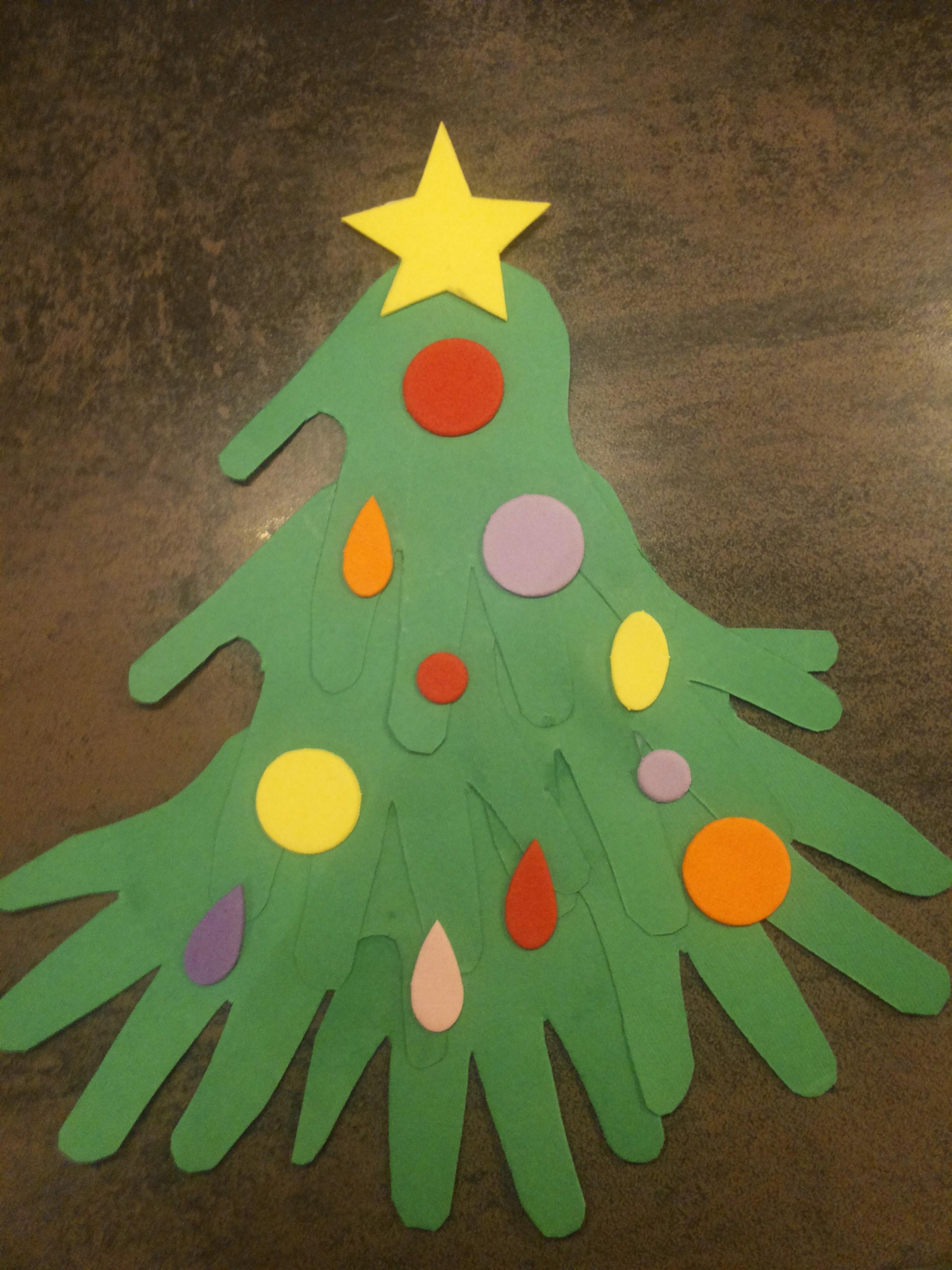 Lavoretti Di Natale Con Le Manine.Albero Di Natale Con Le Manine