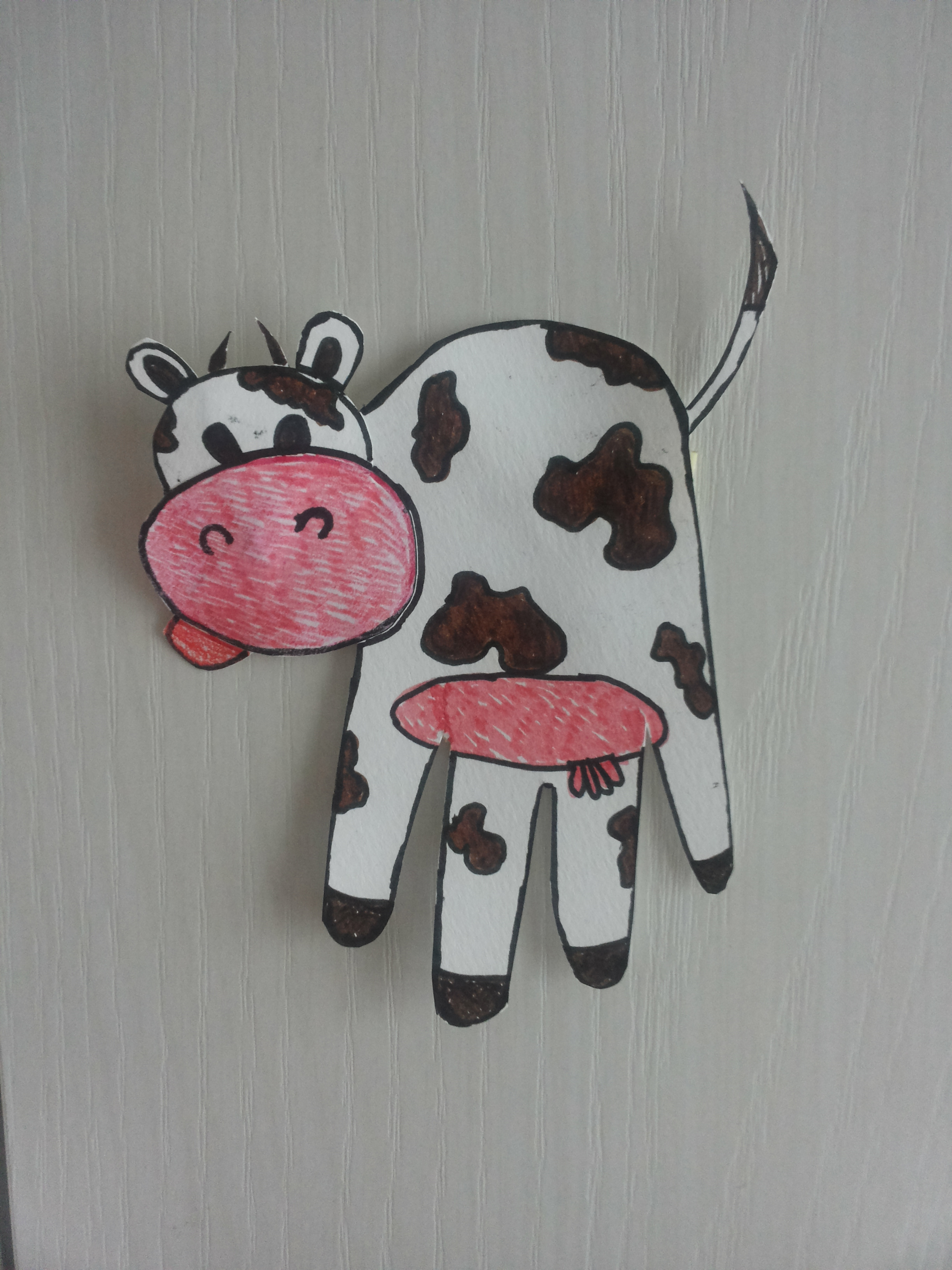 Cornice artistica dei cartoni animati con gli animali in una