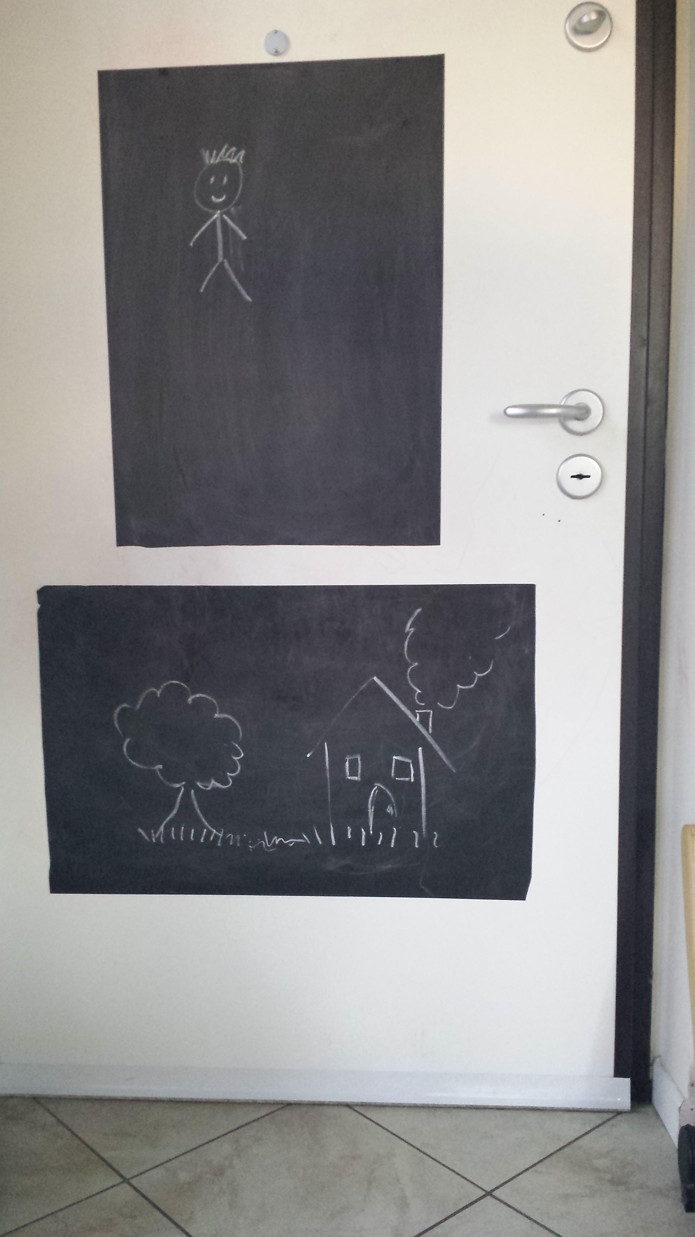 Disegni Sui Muri Di Casa la lavagna sulla porta – un modo creativo per salvare i muri