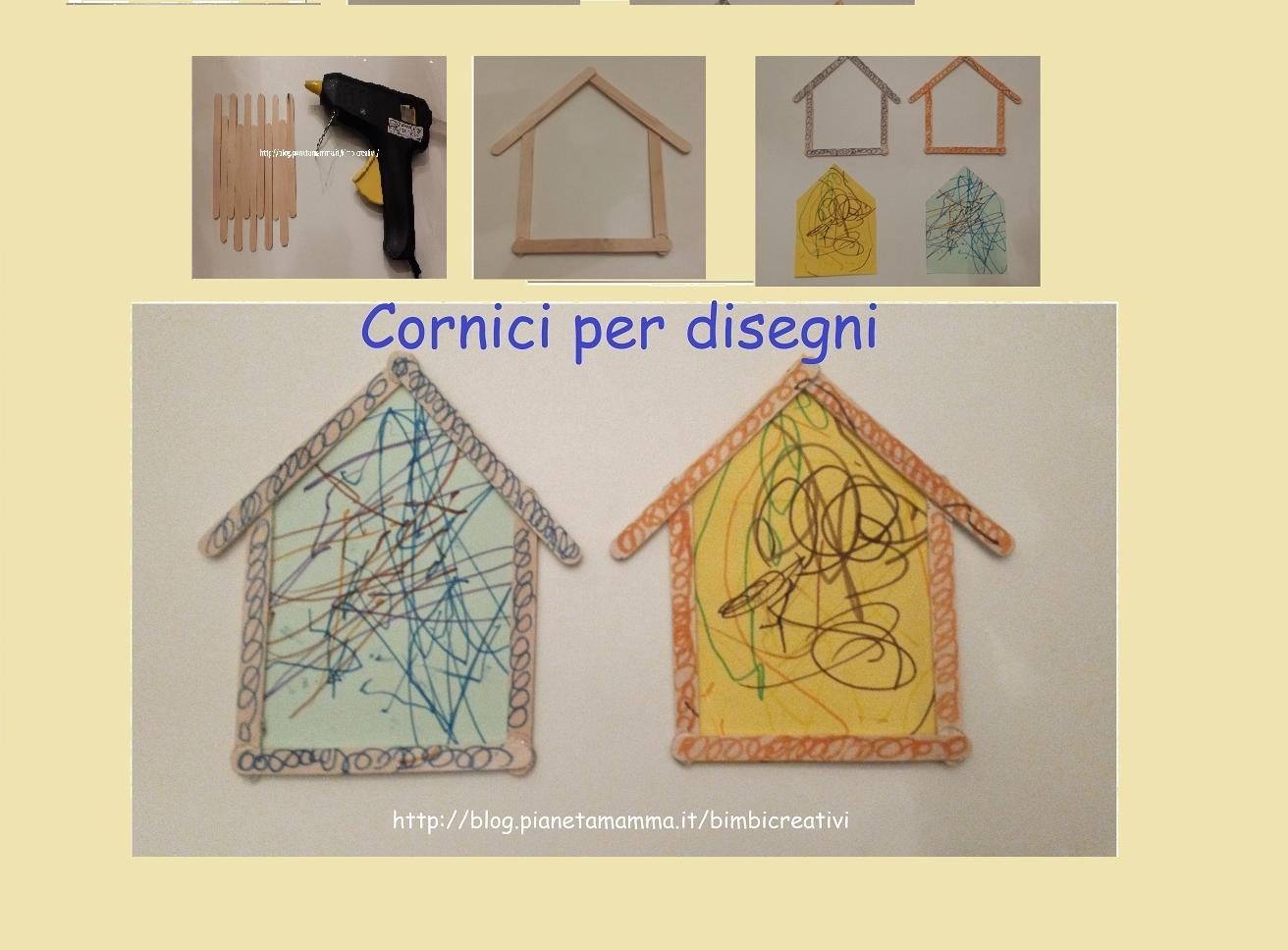Cornici Colorate Per Foto cornice per disegno – frame for kids drawing