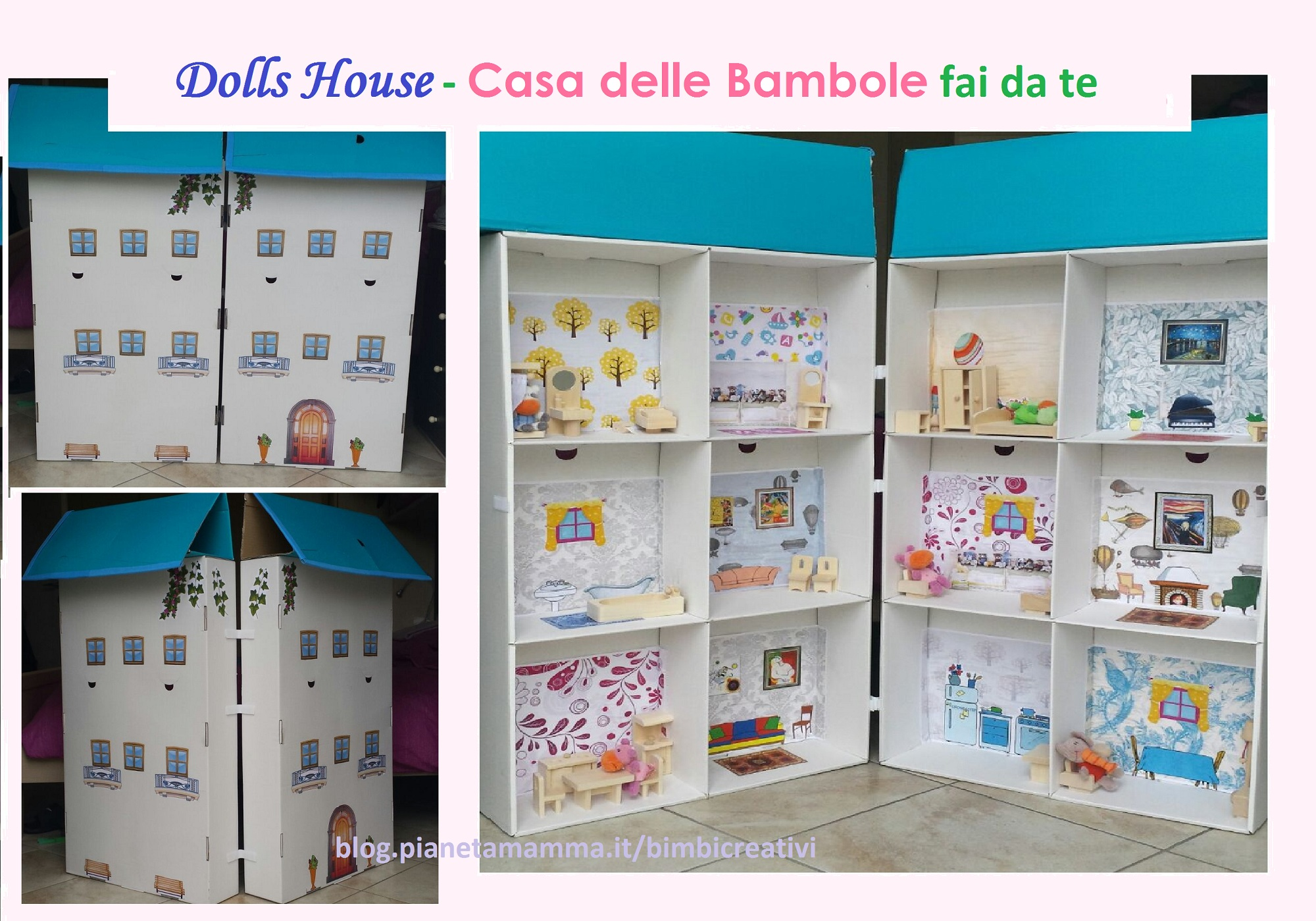 Casa delle bambole fai da te how to create a dolls house - Fai da te a casa ...