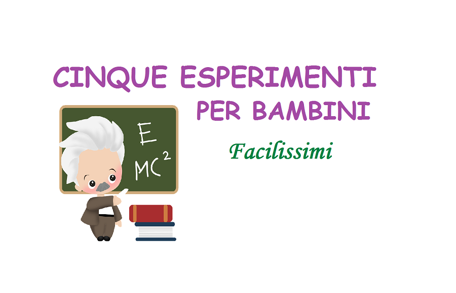 Famoso 5 Esperimenti per BambiniFaciliFacili - Bimbi Creativi QN16