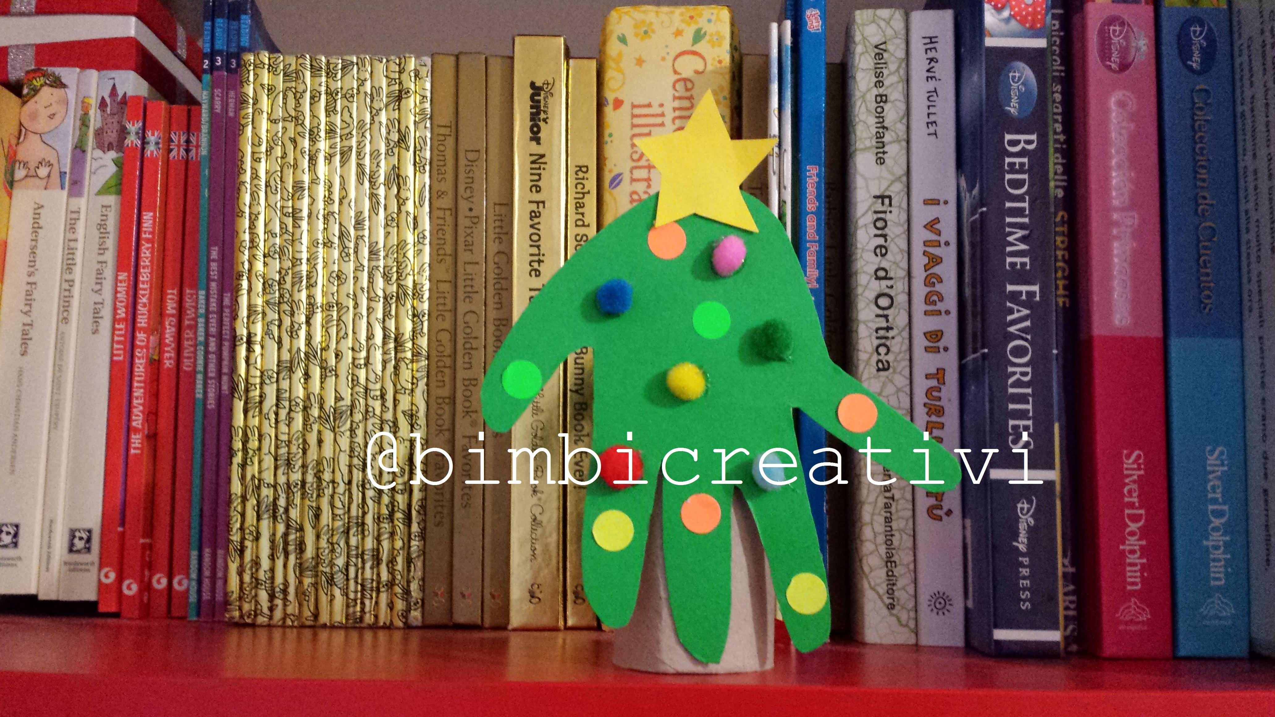 Lavoretti Di Natale Con Le Impronte Delle Mani.Come Fare Un Albero Di Natale Con Le Impronte Delle Mani