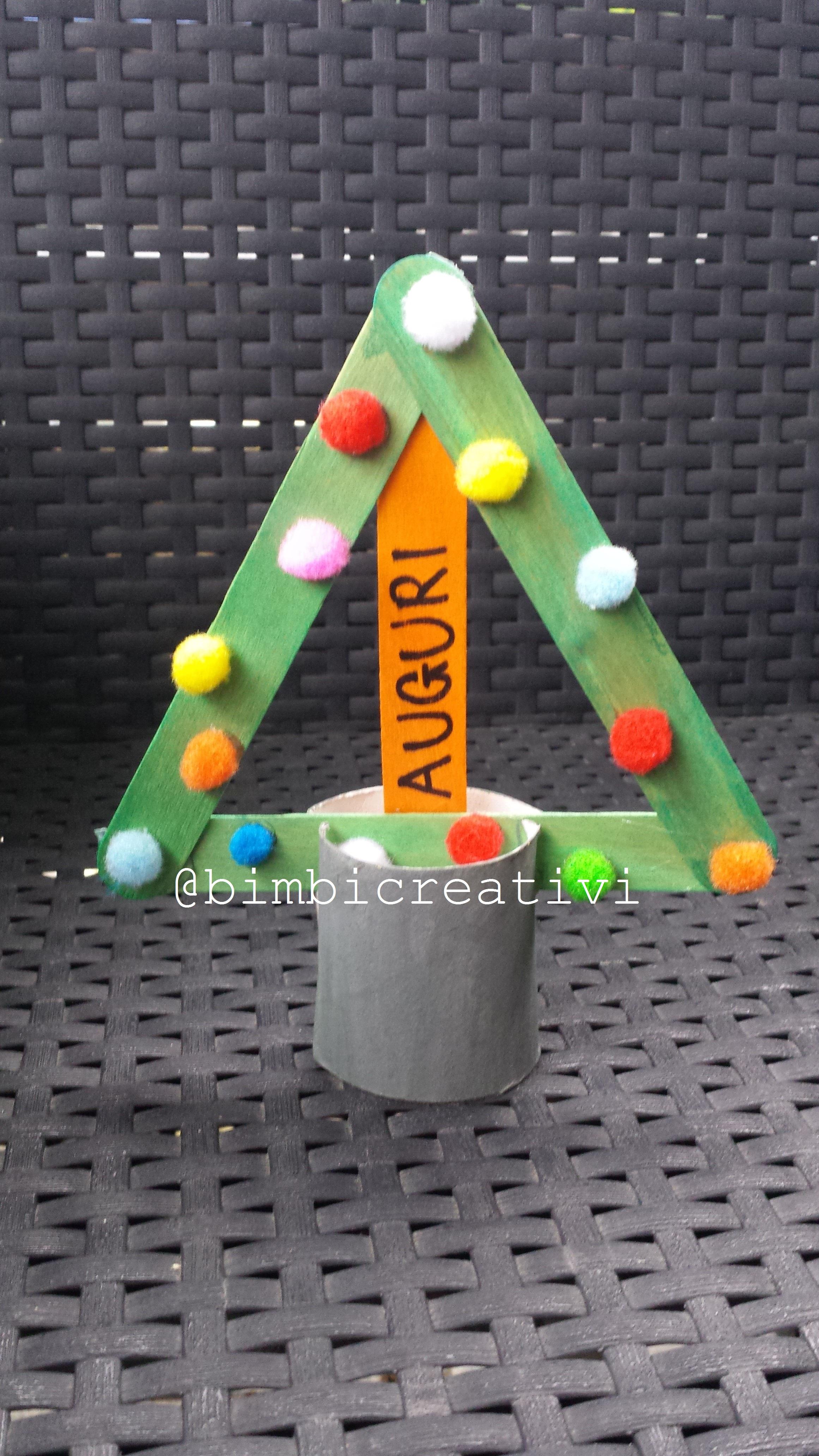 Lavoretti In Legno Per Natale albero di natale con i bastoncini