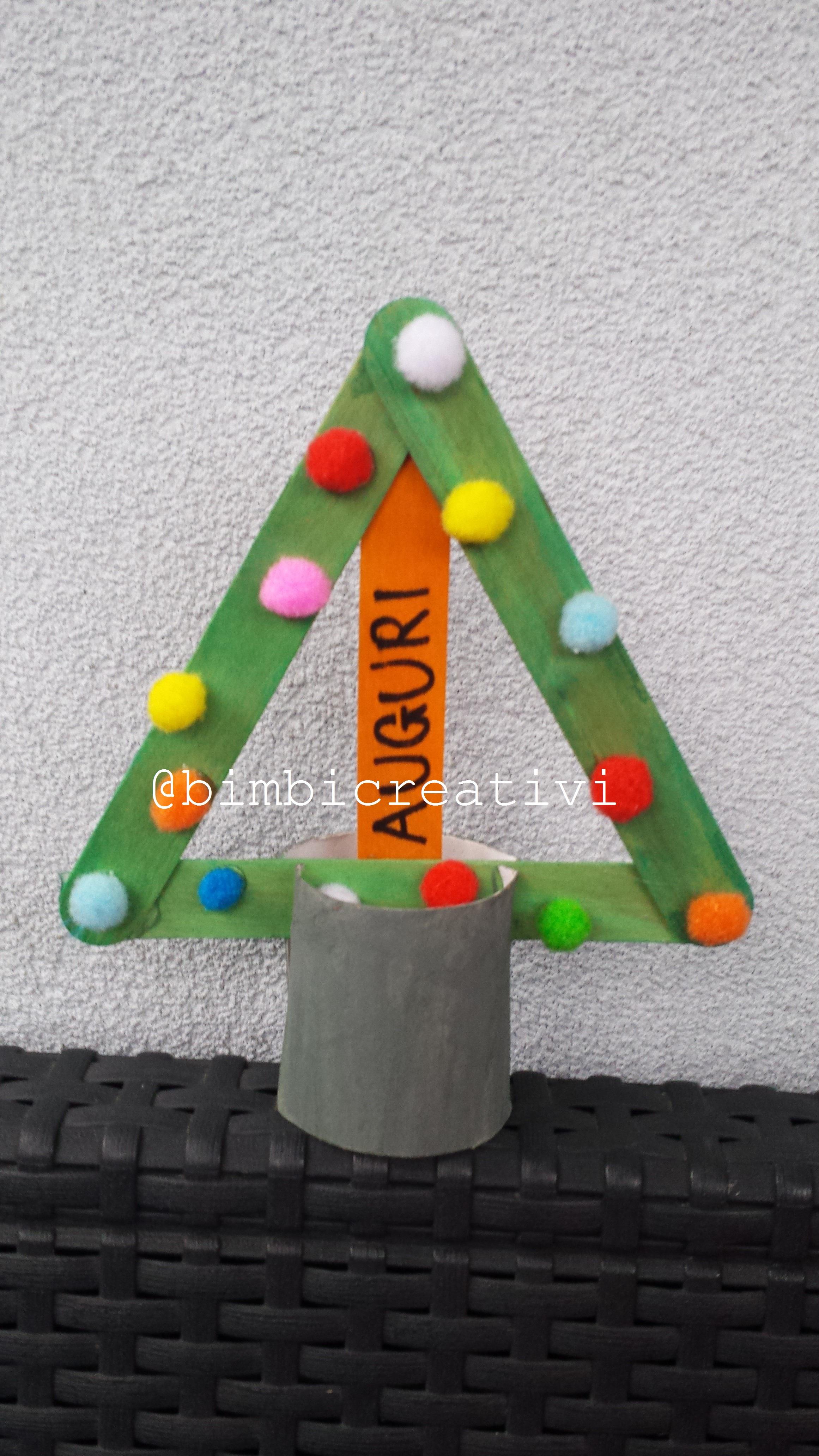 Albero Di Natale Con I Bastoncini Bimbi Creativi