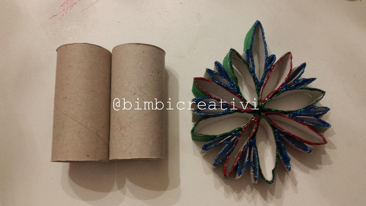 Decorazioni Natalizie Per La Camera decorazioni natalizie fatte con i rotoli di carta