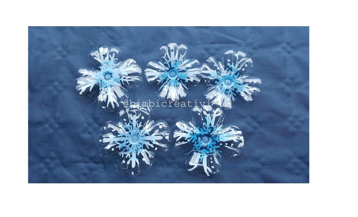 Fiocchi Di Neve Di Carta Facili : Fiocchi di neve con fondi di bottiglia bimbi creativi
