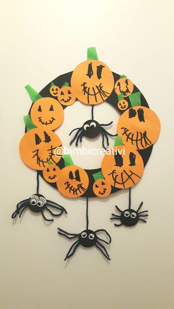 Halloween Per Bambini.Lavoretto Per Bambini Ghirlanda Per Halloween
