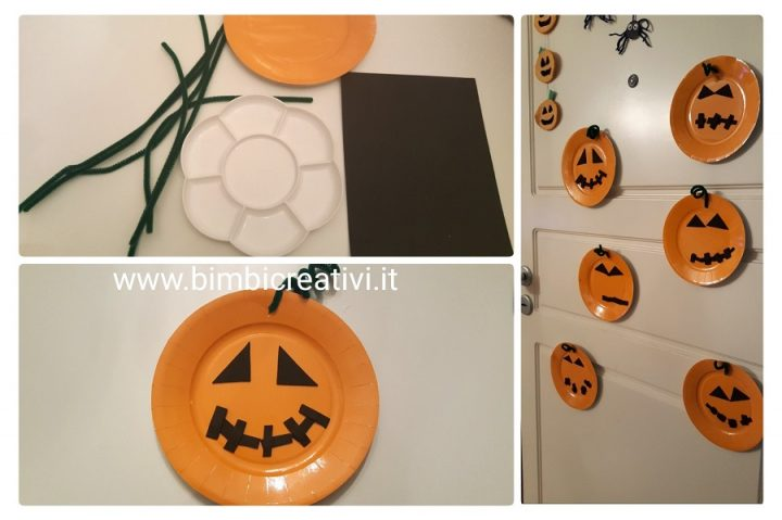 Lavoretto Per Halloween La Zucca Da Comporre Con Un Piatto Di Carta