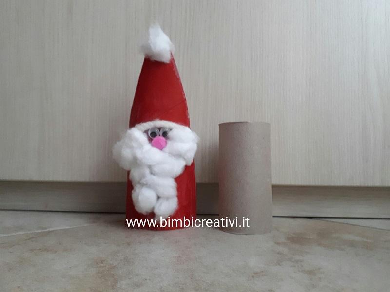 Rotoli Di Carta Igienica Lavoretti Natale : Come fare babbo natale con i rotoli di carta bimbi creativi
