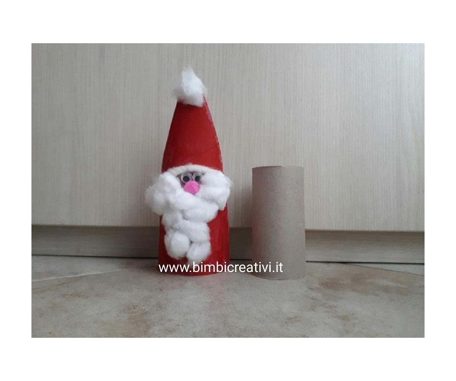 Lavoretti Di Natale Con Babbo Natale.Babbo Natale Con I Rotoli Di Carta Bimbi Creativi