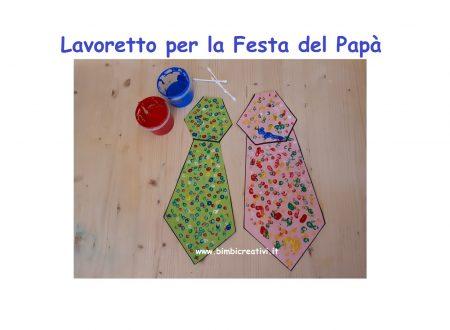 LAVORETTO PER LA FESTA DEL PAPA': LA CRAVATTA