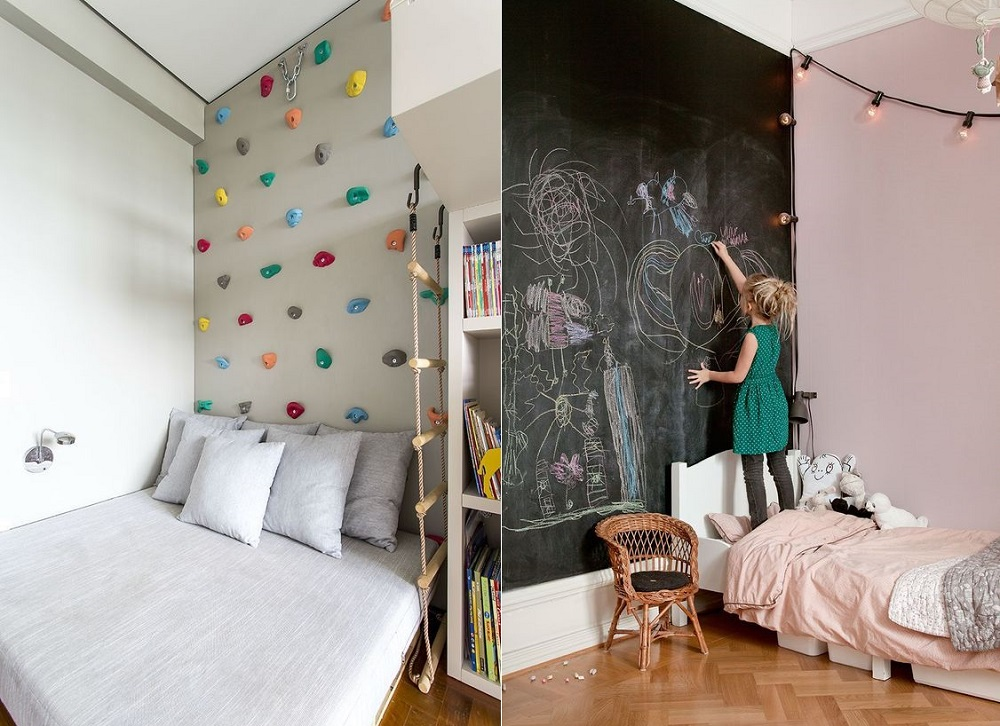 10 idee per decorare le pareti della camera dei bambini bimbi creativi - Decorare camera bambini ...