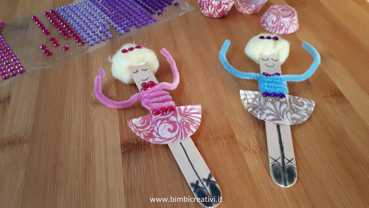 Lavoretto Ballerina Con Bastoncini Di Legno Bimbi Creativi