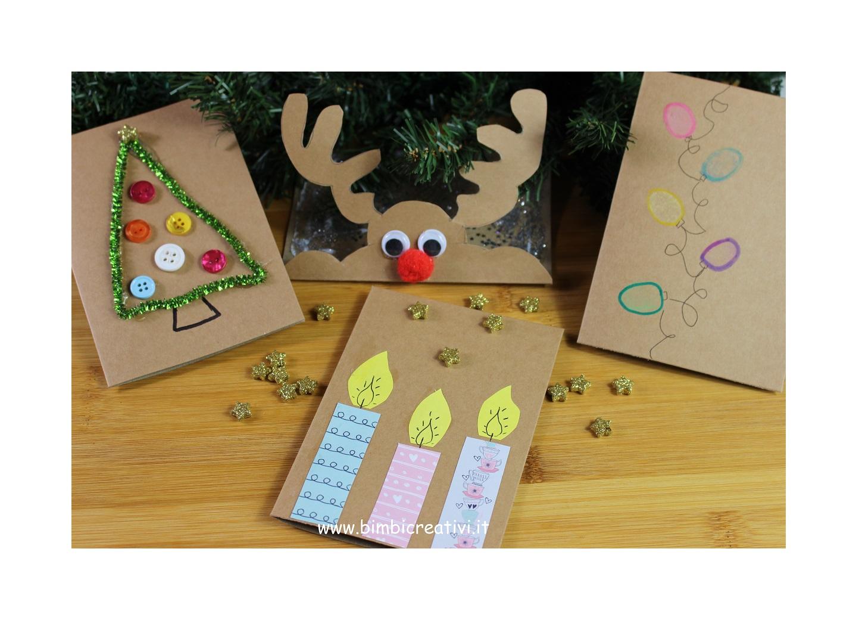 Lavoretti Biglietti Di Natale.Biglietti Di Natale Fai Da Te Facilissimi Bimbi Creativi