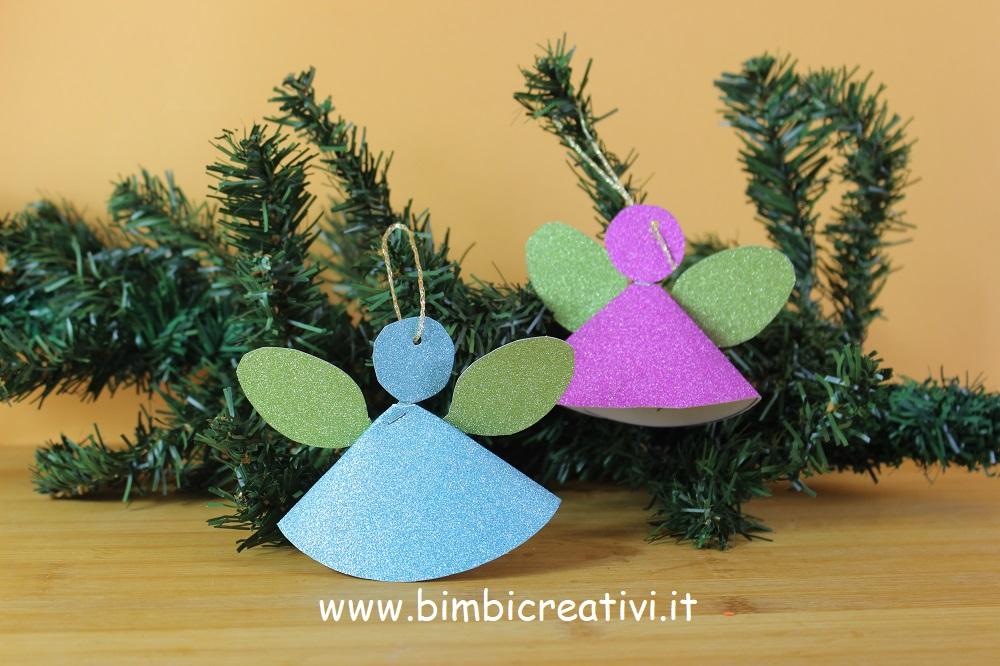 Angeli Lavoretti Di Natale.Natale Angelo Di Carta Da Appendere Bimbi Creativi