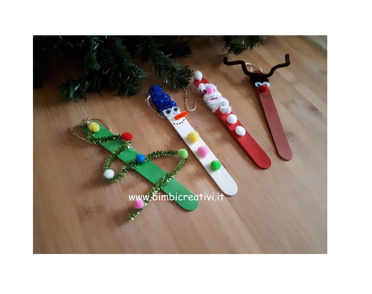 Lavoretti In Legno Per Natale decorazioni natalizie con i bastoncini di legno