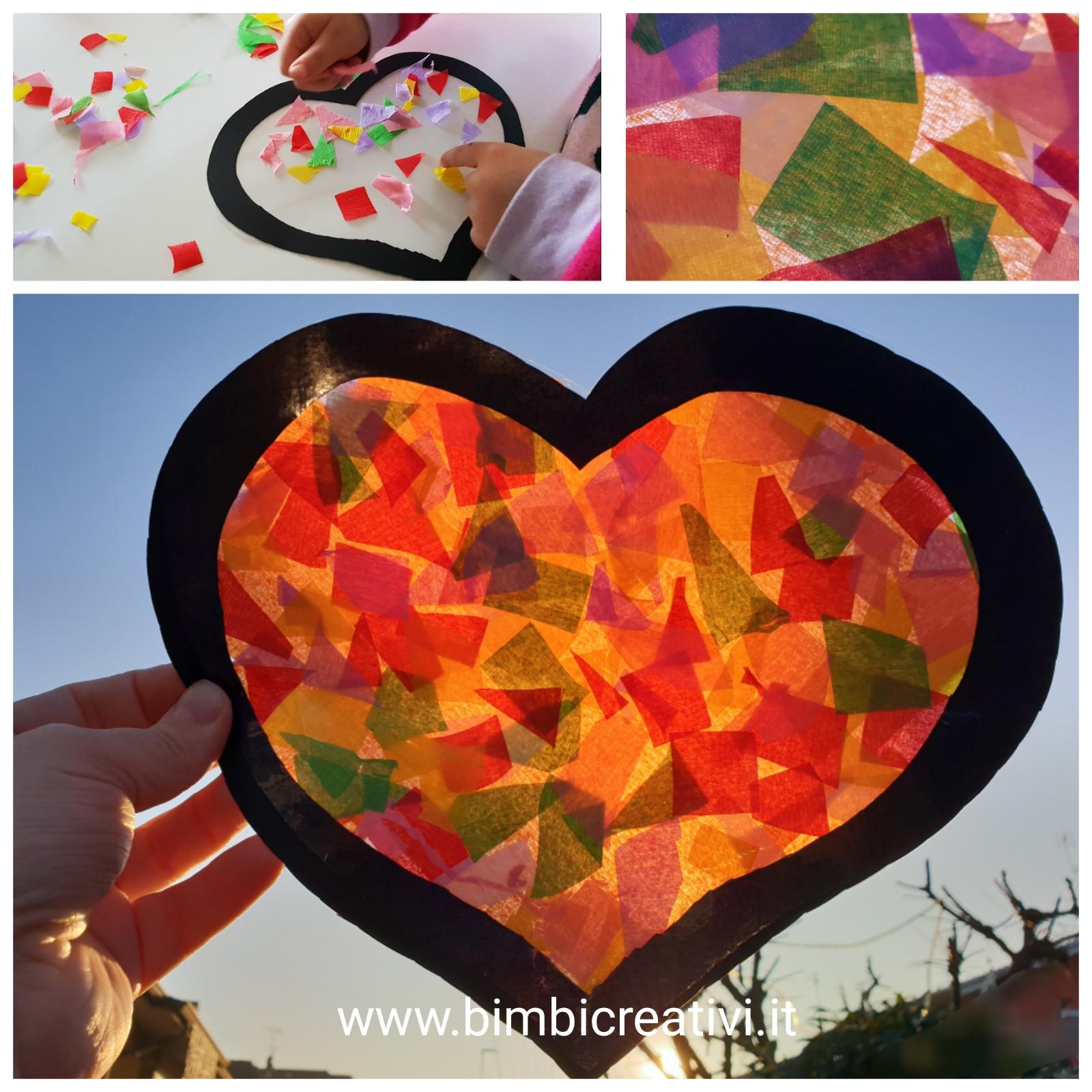 Cose Creative Con La Carta cuore colorato da realizzare con i bambini