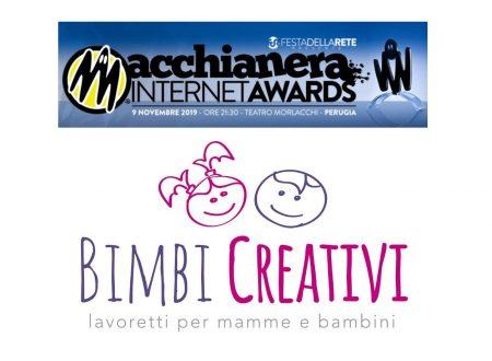 """VOTA """"BIMBI CREATIVI"""" AL MACCHIANERA INTERNET AWARDS 2019!"""