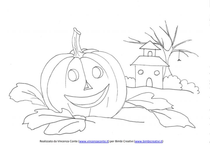Zucca Di Halloween Da Colorare E Da Stampare Gratuitamente Bimbi Creativi