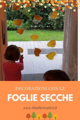 bimbi-creativi-decorazioni-foglie-secche-finestra
