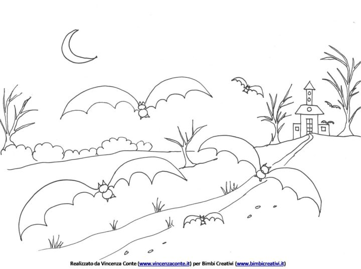 bimbi-creativi-halloween-disegno-da-colorare-paesaggio-pipistrelli