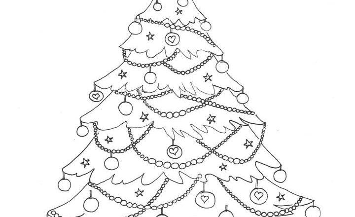 Disegni Da Colorare Gratis Di Natale.Albero Di Natale Da Colorare Scaricalo Gratis Bimbi Creativi