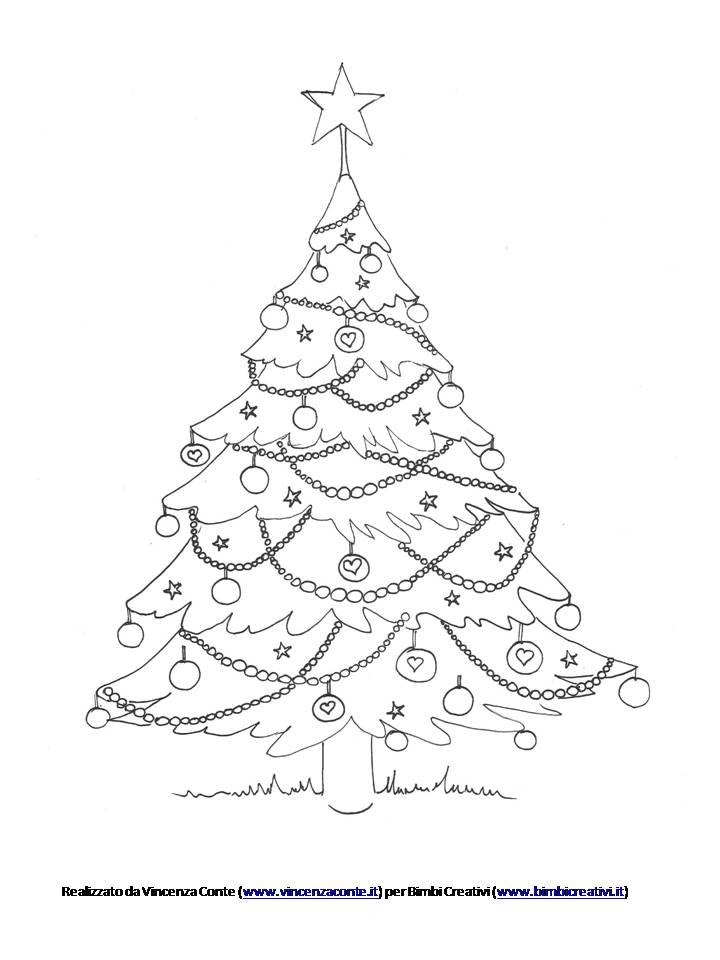 Albero Di Natale Disegno Da Colorare.Albero Di Natale Da Colorare Scaricalo Gratis Bimbi Creativi