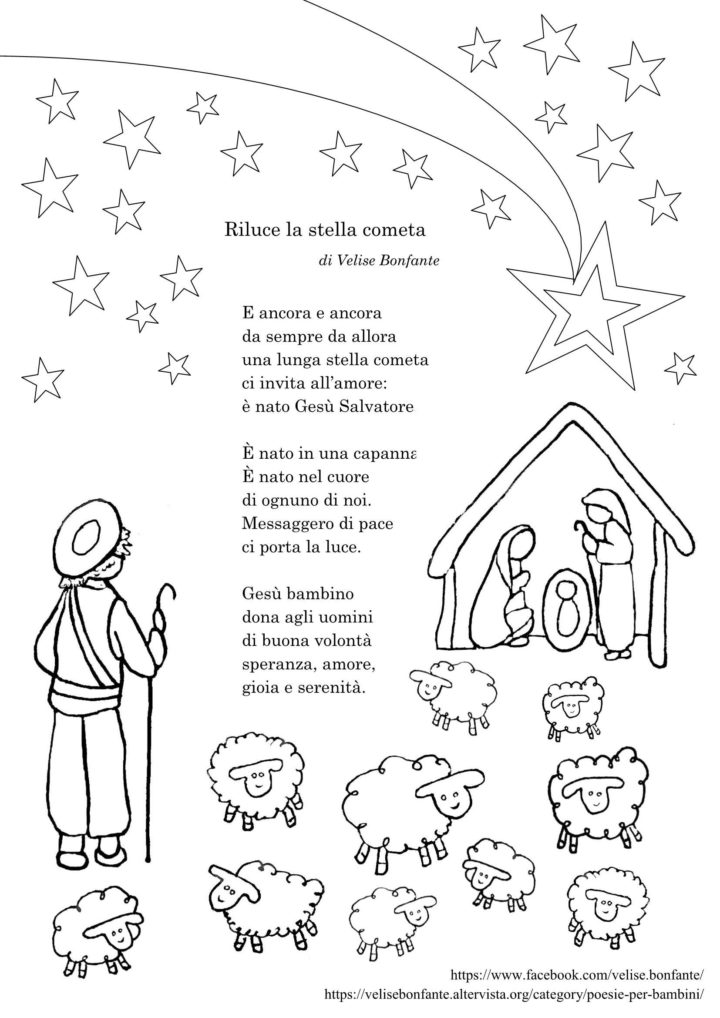 Le Piu Belle Poesie Di Natale Scuola Primaria.Poesia Per Natale Riluce La Stella Cometa Bimbi Creativi