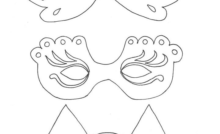 3 Maschere Di Carnevale Da Colorare Bimbi Creativi