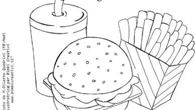 bimbi-creativi-disegno-fast-food-da-colorare