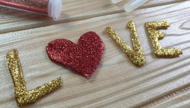 lettere-glitterate-fa-da-te