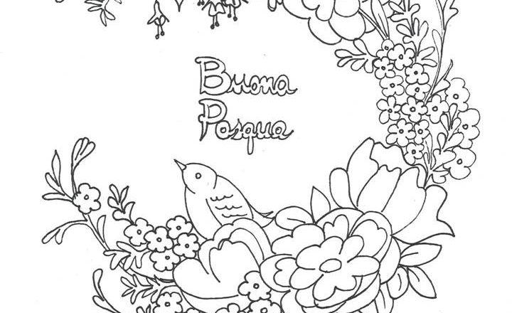 Disegno Da Colorare Scritta Buona Pasqua Bimbi Creativi