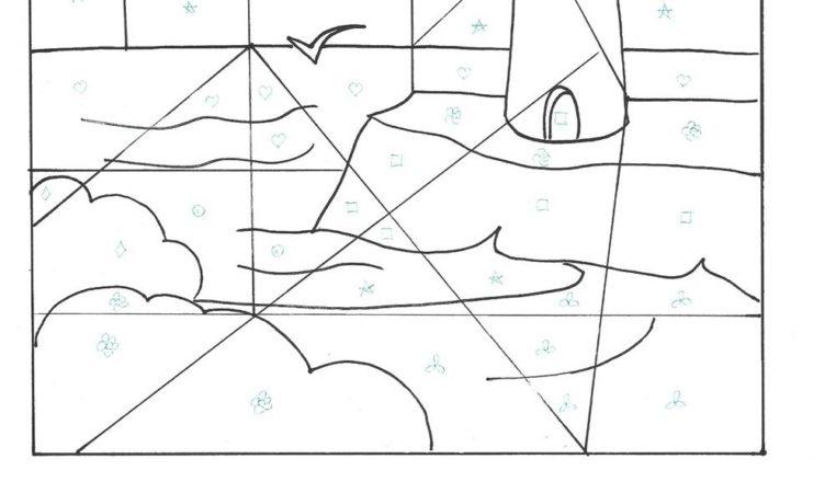 bimbi-creativi-disegno-mosaico-faro