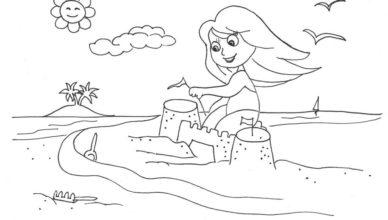 bimbi-creativi-disegno-castello-di-sabbia